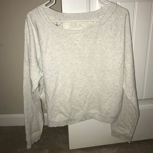 Aeropostale light grey shirt with lace